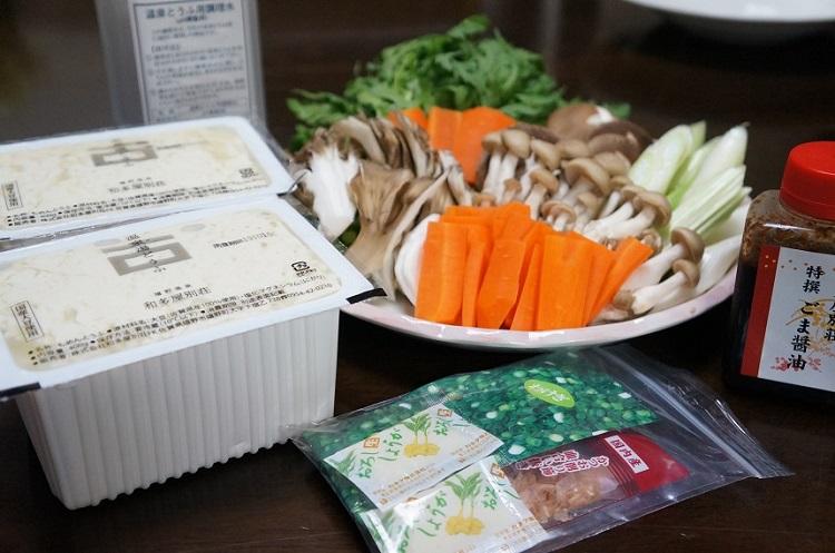 ギフトに湯豆腐